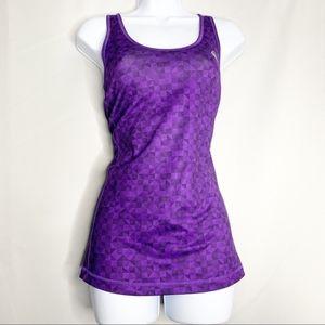 Adidas xl purple geometric workout tank